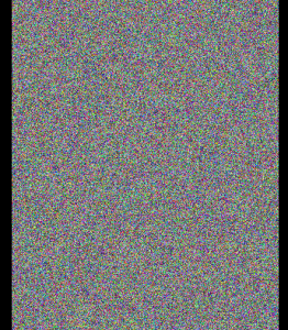 Forge image plot of color noise